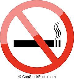 No smoking sign Smoking prohibited symbol isolated on white...