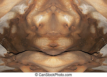 creature - Abstract image of the monster from stone -...