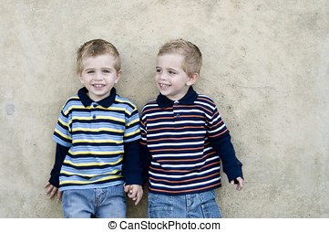 Identical twins - Identical twin boys, they are two years...