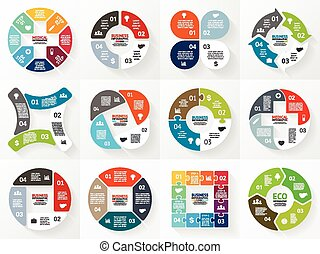 Vector circle arrows infographic, diagram, graph. - Layout...