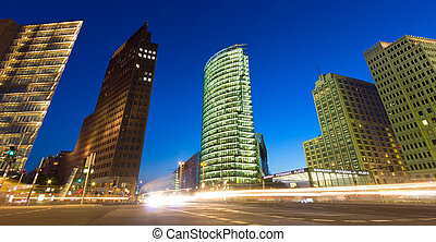 Potsdamer Platz - Evening view of the Potsdamer Platz...