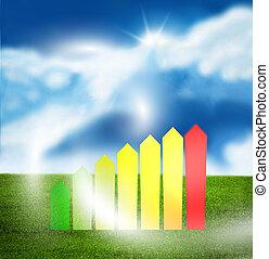 Environmentally friendly sunny sky illustration -...