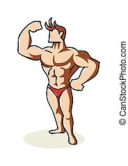 Bodybuilder - Doodle illustration of a bodybuilder