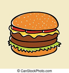 Hamburger - Doodle illustration of a hamburger