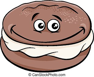 whoopie pie cartoon illustration - Cartoon Illustration of...