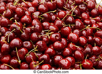 heap of fresh cherry