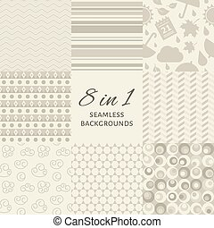 Vector set of seamles backgrounds