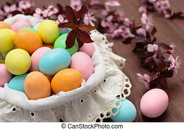 Candies for Easter day. - Pastel colored candies for Easter...