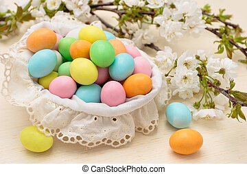 Candies for Easter day - Pastel colored candies for Easter...