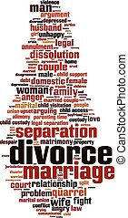Divorce word cloud concept Vector illustration