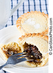 Delicious mince pies - A delicious mince pie ready to be...