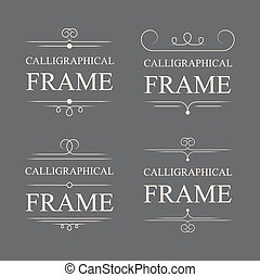Vector calligraphic frame elements