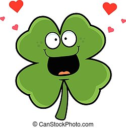 Cartoon Shamrock In Love