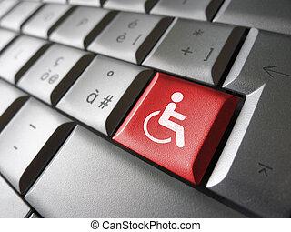 teia, Símbolo, acessibilidade, ícone