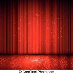 Merry Christmas design - red spotlight effect scene...