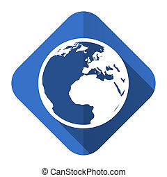 earth flat icon world sign