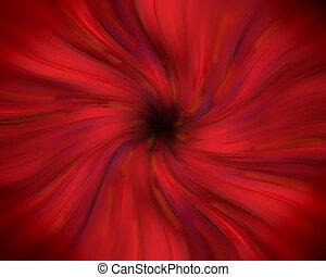 Red swirling vortex - Red swirling pastel vortex with dark...