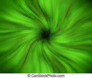 Green swirling vortex - A green swirling vortex with a dark...