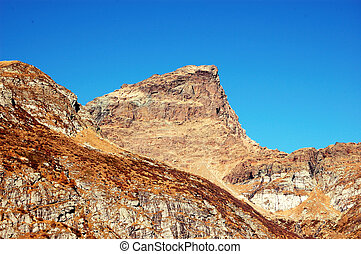 mountain peak - autumnal view of a mountain peak (Italy)