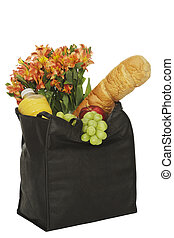Bag of groceries - Bag of greceries isolated on a white...