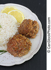 meatballs with rice