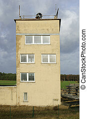 Watchtower - A disused watchtower of the former GDR border...
