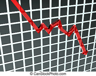 Chart showing bad things - Illustration of a graph where the...