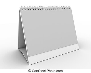 daily planner - White daily planner, blank or calendar