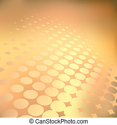 Golden dots - Abstract editable vector background of light...