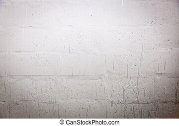 White cinder block wall background and texture
