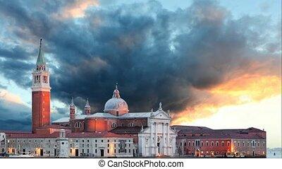 Venice - Church of San Giorgio Maggiore, Time lapse