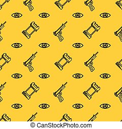 Vector background for self defence - Seamless vector pattern...