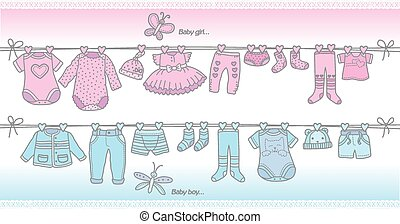 Clothing baby boy and baby girl - fashionable baby clothes...