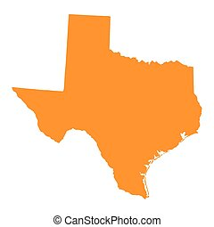orange map of Texas