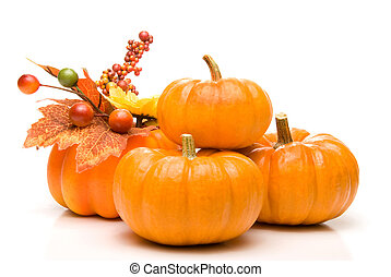 Pumpkins - A large pile of plump and juicy holliday...