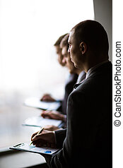 business people discussing - Image of business people...