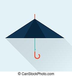 umbrella icon - Vector vintage umbrella flat simple icon...
