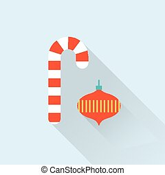 christmas decorations - vector simple cute illustration of...