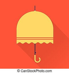 umbrella icon - Vector vintage umbrella flat simple icon...