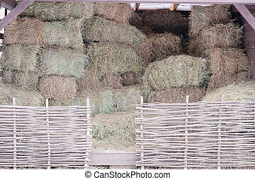 hayloft - The hay in the hayloft