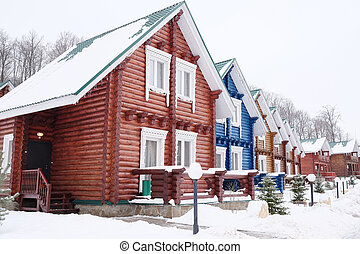 Beautiful wooden cottages