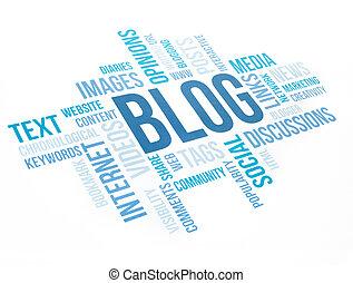concept, Diagramme,  blog, nuage, impression,  document
