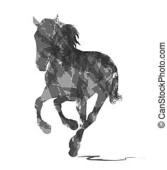 abstract horse on white background