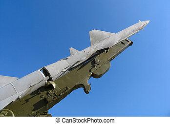 viejo, ruso, balístico, misil