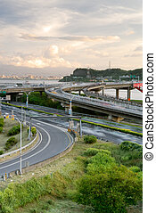 cityscape of interchange - It is a beautiful cityscape of...