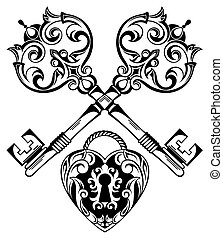 Tattoo Design of Lock ands Key - Lock ands Key