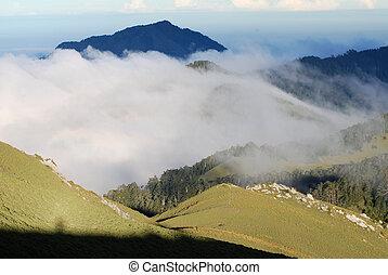 mountain ,flowing cloud ,and sambar - beautiful mountain...