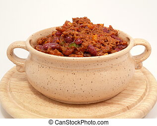 chili con carne - Chili con carne, spicy beans and meat