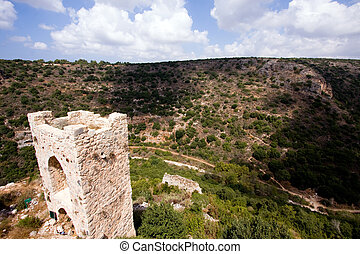 fragment of ancient building, north of Israel - The Montfort...