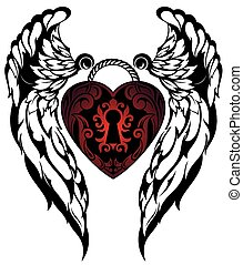 Angel wings.Love tattoo